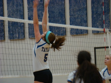 We have spent many hours over the past year watching Danielle play volleyball. She's a great middle.